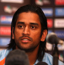 Mahendra Singh Dhoni answers questions from the media on the eve of the ICC World Twenty20 final, Johannesburg, September 23, 2007
