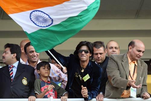 Shah Rukh Khan makes an appearance to cheer the Indian team, India v Pakistan, ICC World Twenty20 final, Johannesburg, September 24, 2007