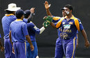 Sri Lankan team-mates congratulate Sujeewa de Silva for dismissing Phil Mustard, Sri Lanka Cricket XI v England XI, P Saravanamuttu Stadium, Colombo, September 28, 2007