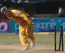 Michael Clarke knocks off the bails to run out Irfan Pathan, India v Australia, 2nd ODI, Kochi, October 2, 2007