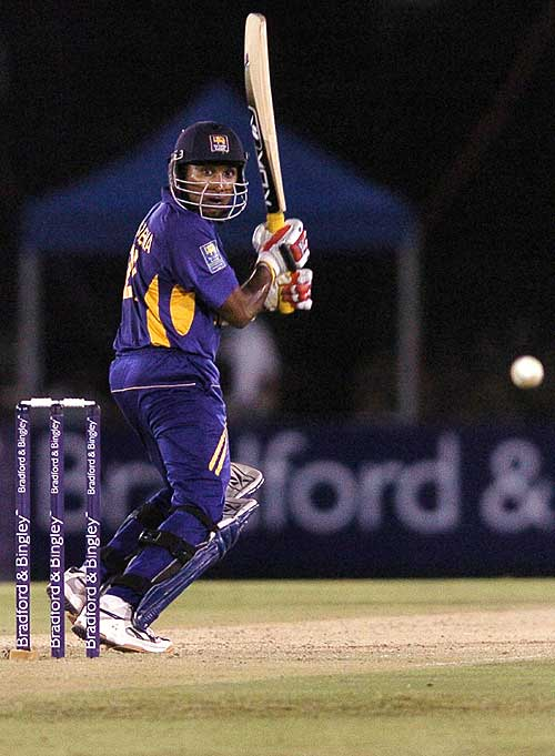 Mahela Jayawardene glides the ball down to third man, Sri Lanka v England, 2nd ODi, Dambulla, October 4, 2007