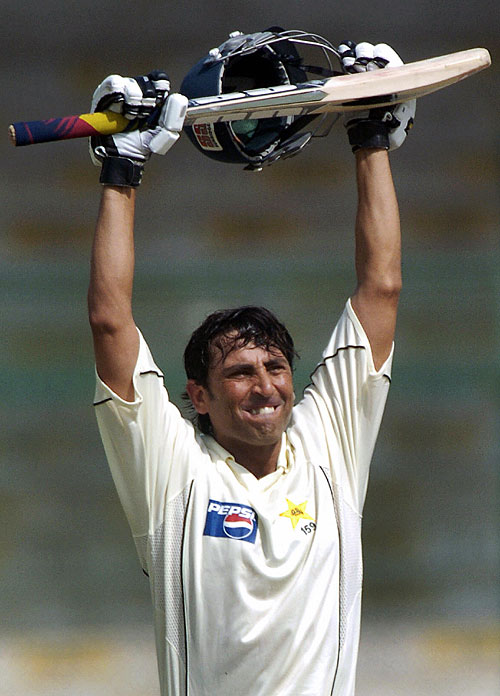 Younis Khan celebrates his century, Pakistan v South Africa, 1st Test, Karachi, 5th day, October 5, 2007