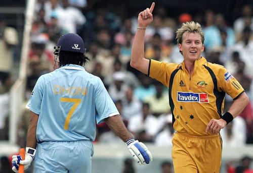 Brett Lee got rid of Mahendra Singh Dhoni, India v Australia, 3rd ODI, Hyderabad, October 5, 2007