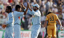 RP Singh celebrates after removing Andrew Symonds, India v Australia, 4th ODI, Chandigarh, October 8, 2007