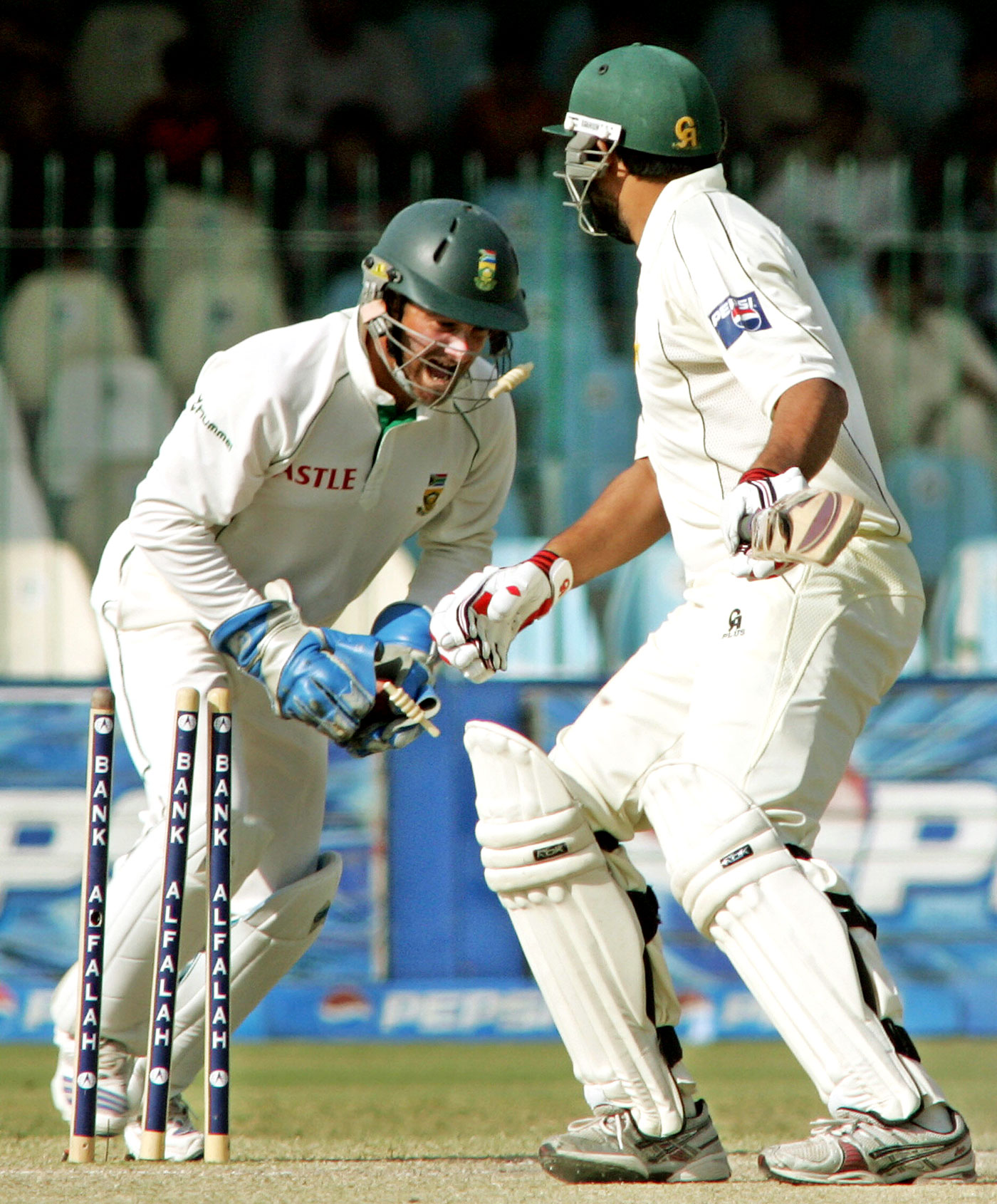 Inzamam left the international stage, stumped off Paul Harris in Lahore in 2007