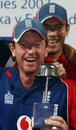 Paul Collingwood is all smiles with the series silverware, Sri Lanka v England, 5th ODI, Colombo, October 13, 2007