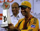 Ricky Ponting with the trophy, India v Australia, 7th ODI, Mumbai, October 17, 2007