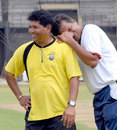 Chandrakant Pandit and WV Raman, former India players now coaching Maharashtra and Tamil Nadu respectively, have found something funny at the training session on the eve of their match, Tamil Nadu v Maharashtra, Ranji Trophy Super League, 1st round, Chennai, November 2, 2007