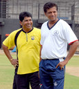 Chandrakant Pandit and WV Raman, former India players now coaching Maharashtra and Tamil Nadu respectively, pose for photographers at a training session on the eve of their match, Tamil Nadu v Maharashtra, Ranji Trophy Super League, 1st round, Chennai, November 2, 2007