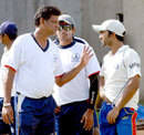 WV Raman, S Badrinath and Dinesh Karthik discuss something at Tamil Nadu nets on the ve of their match against Maharashtra, Tamil Nadu v Maharashtra, Ranji Trophy Super League, 1st round, Chennai, November 2, 2007