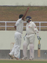 Sandeep Jobanputra appeals in vain for the wicket of Sandeep Sharma, Himachal Pradesh v Saurashtra, Ranji Trophy Super League, Group A, 1st round, 2nd day, Dharamsala, November 4, 2007