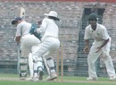 Safi Ahmed glances the ball during his painstaking 92-ball 14, Bengal v Hyderabad , Ranji Trophy Super League, Group B, 1st round, 1st day, Eden Gardens, November 4, 2007