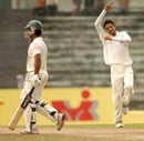 Talha Jubair celebrates the wicket of Mohammad Ashraful, Dhaka v Barisal, National Cricket League, Mirpur, November 4, 2007
