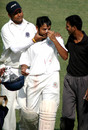 Hemal Watekar retired hurt at 100 after being struck on the nose by a rising delivery by Gagandeep Singh, Punjab v Andhra, Ranji Trophy Super League, Group B, 1st round, 4th day, Amritsar, November 6, 2007