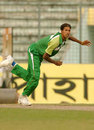 Barisal's Sumon Shaha bowled aggressively but finished with one wicket, Dhaka v Barisal, National Cricket League One-Day, Dhaka, November 6, 2007