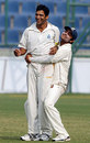 Amit Bhandari celebrates after taking the match-winning wicket of Robin Bist, Delhi v Rajasthan, Ranji Trophy Super League, Group A, 1st round, 4th day, Delhi, November 7, 2007
