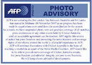 AFP published a note informing its clients of its suspension of coverage for the first Test between Australia and Sri Lanka, November 12, 2007