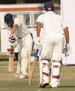 Ian Dev Singh defends a delivery during his 104, Jammu and Kashmir v Madhya Pradesh, Ranji Trophy Plate League, Group B, 2nd round, 1st day, Jammu, November 15, 2007
