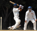 R Srinivasan plays the cut while the forward short-leg fielder looks on, Tamil Nadu v Mumbai, Ranji Trophy Super League, Group A, 2nd round, 1st day, Chennai, November 15, 2007