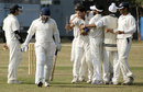 Jammu & Kashmir players celebrate the wicket of Brijesh Tomar, Jammu & Kashmir v Madhya Pradesh, Ranji Plate League, 2nd round, Group B, Jammu, 2nd day, November 16, 2007