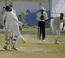 Brijesh Tomar swerves to avoid a bouncer, Jammu & Kashmir v Madhya Pradesh, Ranji Plate League, 2nd round, Group B, Jammu, 2nd day, November 16, 2007