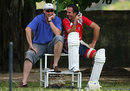 Angus Fraser and Michael Vaughan share a joke during a training session, Colombo, November 17, 2007