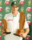 Dale Steyn won the Man-of-the-Match and the Man-of-the-Series awards, South Africa v New Zealand, 2nd Test, Centurion, 3rd day, November 18, 2007