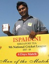 Chittagong's Gazi Salahuddin was Man of the Match, Chittagong v Sylhet, National Cricket League, Chittagong, November 21, 2007