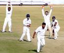 The Maharashtra players celebrate the wicket of Himachal Pradesh's Barun Sharma, Himachal Pradesh v Maharashtra, Ranji Trophy Super League, Group A, 3rd round, Dharamsala, 2nd day, November 24, 2007