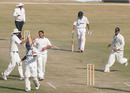 Maharashtra's Salil Agharkar is dismissed by Jitender Mehta, Himachal Pradesh v Maharashtra, Ranji Trophy Super League, Group A, 3rd round, Dharamsala, 2nd day, November 24, 2007