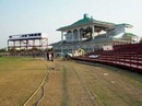 A view of the pavilion of the Tau Devi Lal Cricket Stadium, Chandigarh, November 24, 2007
