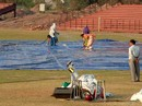 The groundstaff prepare the Tau Devi Lal Cricket Stadium, Chandigarh, November 24, 2007
