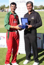 Man of the Match Tariq Hussein, Oman v Uganda, World Cricket League Division Two, Windhoek, November 25, 2007