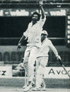 Max Walker has Mike Procter caught behind , WSC Australians v WSC World XI, 4th Supertest,  RAS Showground, Sydney, January 15, 1978