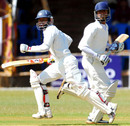 Rajasthan's openers Vineet Saxena and Manish Sharma take a run during their 120-run stand, Karnataka v Rajasthan, Ranji Trophy Super League, Group A, 4th round, 1st day, Mysore, December 1, 2007