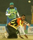 Inzamam-ul-Haq bludgeons a Mervyn Dillon delivery, Mumbai Champs v Hyderabad Heroes, Indian Cricket League, December 1, 2007
