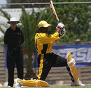 Danniel Ruyange in action , Uganda v Argentina, World Cricket League Division Two, Windhoek, December 1, 2007