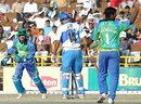Alfred Absolem and Ibrahim Khaleel celebrate the wicket of Abbas Ali, Delhi Jets v Hyderabad Heroes, Indian Cricket League, December 2, 2007