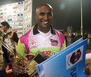 T Kumaran was adjuged Man of the Match for his splendid six-wicket haul, Chennai Superstars v Mumbai Champs, Indian Cricket League, December 3, 2007