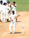 Kanaiya Vaghela walks back after being bowled by Suresh Kumar, Tamil Nadu v Saurashtra, Ranji Trophy Super League, Group A, 4th round, 4th day, Chennai, December 4, 2007