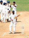 Kanaiya Vaghela walks back after being bowled by Suresh Kumar, Tamil Nadu v Saurashtra, Ranji Trophy Super League, Group A, 4th round, 4th day, Chennai, December 4, 2007