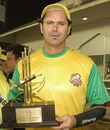 Chris Cairns was Man of the Match for his 26-ball 70, Chandigarh Lions v Mumbai Champs, 12th match, Indian Cricket League, Panchkula, December 9, 2007