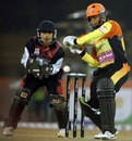 Shreyas Khanolkar and Deep Dasgupta keep their eyes on the ball, Kolkata Tigers v Mumbai Champs, 13th match, Indian Cricket League, Panchkula, December 10, 2007