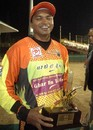 Shreyas Khanolkar of the Mumbai Champs was named Man of the Match, Kolkata Tigers v Mumbai Champs, 13th match, Indian Cricket League, Panchkula, December 10, 2007