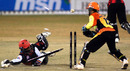 Mihir Diwakar of the Kolkata Tigers is found short of his crease, Kolkata Tigers v Mumbai Champs, 13th match, Indian Cricket League, Panchkula, December 10, 2007