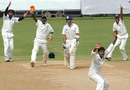 Suresh Kumar appeals successfully for a leg-before against Ajay Mannu, Tamil Nadu v Himachal Pradesh, Ranji Trophy Super League, Group A, 5th round, Chennai, 4th day, December 12, 2007