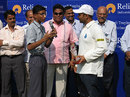 Virender Sehwag at a post-match ceremony, Maharashtra v Delhi, Nagothane, Ranji Trophy 5th round, 4th day, December 12, 2007