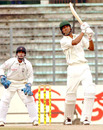 Barisal's Nadif Chowdhury hits a six during his 33-ball 39, Dhaka v Barisal, National Cricket League, 1st day, Fatullah, December 14, 2007