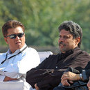 Kiran More and Kapil Dev watch the play-off for fifth place, Hyderabad Heroes v Mumbai Champs, Indian Cricket League, Panchkula, December 15, 2007