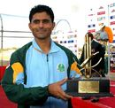 Abdul Razzaq was named Man of the Match for his unbeaten 67, Hyderabad Heroes v Mumbai Champs, Indian Cricket League, Panchkula, December 15, 2007